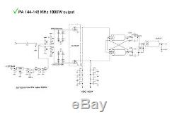 2m VHF power amplifier LDMOS BLF188XR 144-148 MHz 1000W