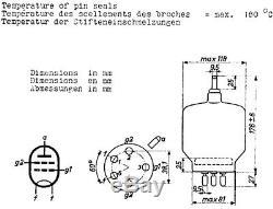 3 Stück Senderöhren WF-SRS 457 Äquivalenz QB 5/1750 (New Old Stock)