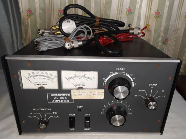Ameritron Al-80a Amplifier, Model Al80, Serisl No. 0837 With Cables, Rare&great