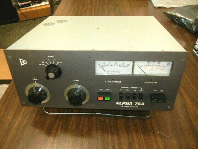Alpha 76a Hf-bands Ham Radio Linear Amplifier