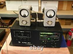 Alpha PA-87A Ham Radio Amplifier Eimac 3CX800A7 Tubes (works, tubes are soft)