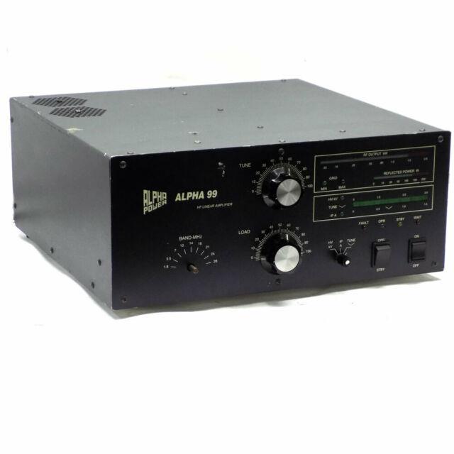 Alpha Power Pa-99 Alpha 99 Ham Radio 160m Manual Tune Hf Linear Power Amplifier
