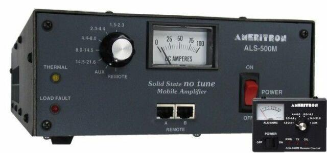 Ameritron Als-500mr 500w Mobile Solid State Hf Amplifier With Remote Head