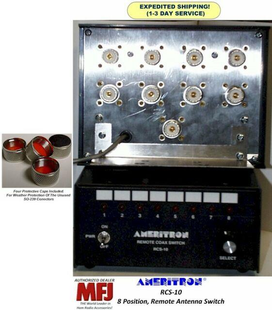 Ameritron Rcs-10, 8 Position Remote Antenna Switch, 5 Kw To 30 Mhz