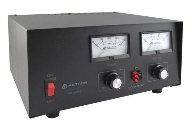 Astron Vs-35m-ap 35 Amp Adjustable Dc Power Supply Withmeters