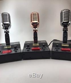 BLACK CHROME DELTA M2 AMPLIFIED DYNAMIC POWER BASE 6 pin Ranger Radio CB HAM MIC