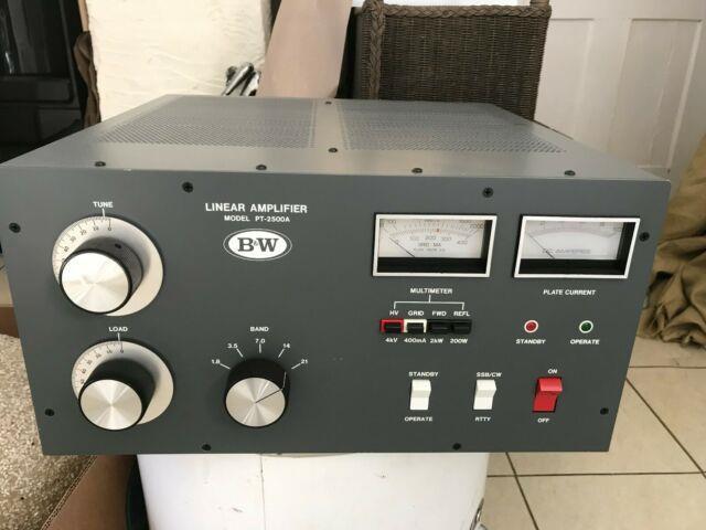 B&w Barker & Williamson Linear Amplifier Model Pt-2500a