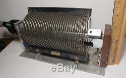 COIL Roller Inductor 4 in diameter 6 inch long JOHNSON Ham Radio Tuner Amplifier