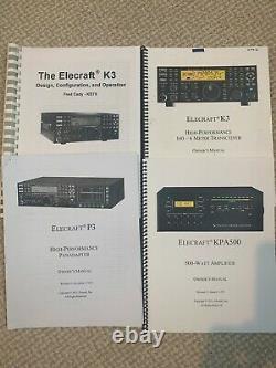 Complete Elecraft K Line K3 Transceiver, KPA500 Amplifier, P3 Pan Adaptor
