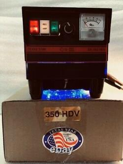 DX-350HDV With BLUE LIT FANKIT STAND TEXAS STAR 2879 transistors CW AMPLIFIER Amp