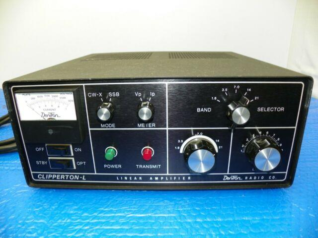 Dentron Clipperton L Linear Amplifier Withcopy Of Manual 160-80 Wired For 110 Volt