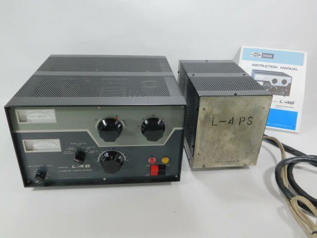 Drake L4b Vintage 3-500z Tube Ham Radio Amplifier + Manual (please Read) Sn 6115
