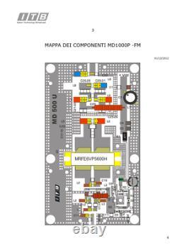 Dualband Endstufenmodul 2M/70cm von Itallab Typ MD 500 U 500 Watt 144/432 MHz