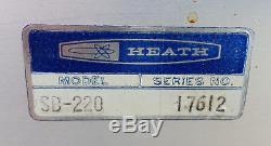 HEATHKIT SB-220 2KW Linear Amplifier Eimac 3-500z Triode Tubes 240V