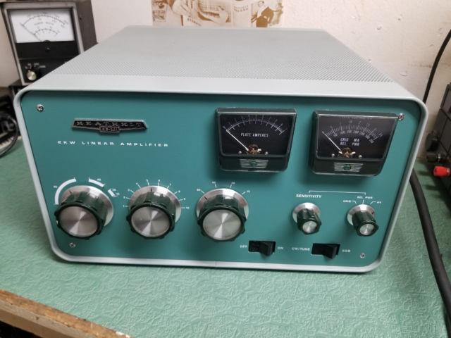 Heathkit Sb-221 Linear Amplifier With Harbach Mods & Manual