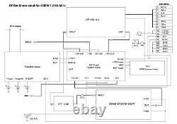 HF/6m linear amplifier 1.8-54 MHz 600W KIT