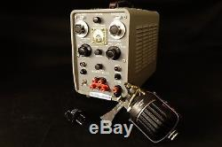HP 715A Klystron Power Supply with 2K25 Tube Horn Microwave Ham Amateur Radio