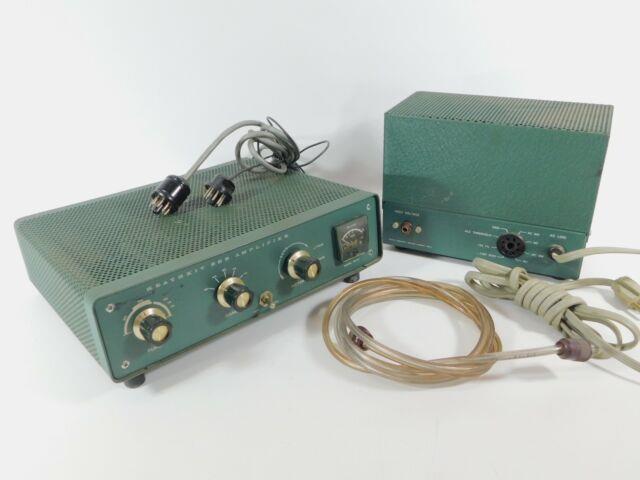 Heathkit Ha-14 Ham Radio Amplifier With Ha-24 Power Supply + Cetron 572b Tubes