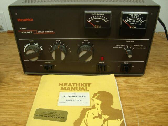 Heathkit Hl-2200 With Eimac 3-500z Tubes Electrical Equivalent To Sb-221 Sb-220