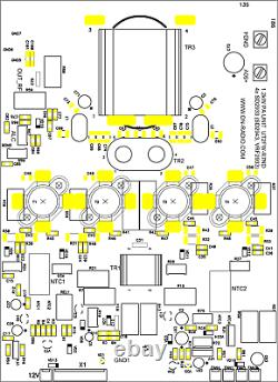 KIT PA Unit 900-1300W Linear Amplifier 4x SD2933, SD2943, VRF2933, MRF150