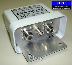 LNA-2m-VOX GaAs-FET Mastvorverstärker / 20dB / 144 146 MHz