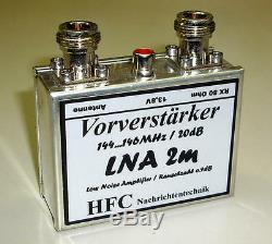 LNA-2m Vorverstärker / 20 dB / 144 146 MHz / Weißblechgehäuse