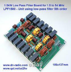 Low pass filter 1.5 KW 1.8-54 MHz amplifier BLF188 BLF188XR SD2933 VRF2933