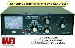 MFJ-948 1.8-30 MHz Antenna Tuner, 300 Watts, With Peak Reading Cross Meter