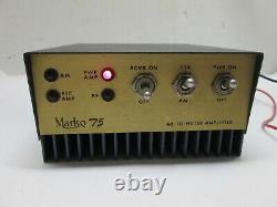 Marko 75 AM SSB Linear 40-10 Meter Amplifier CB HAM RADIO AMP UNIT MARCO 75