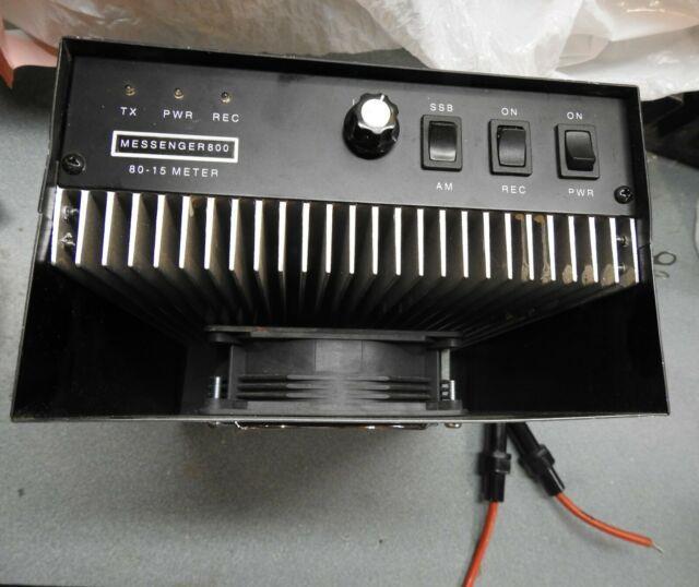 Messenger 800m Linear Amplifier -for Parts But Working. Please Read Description