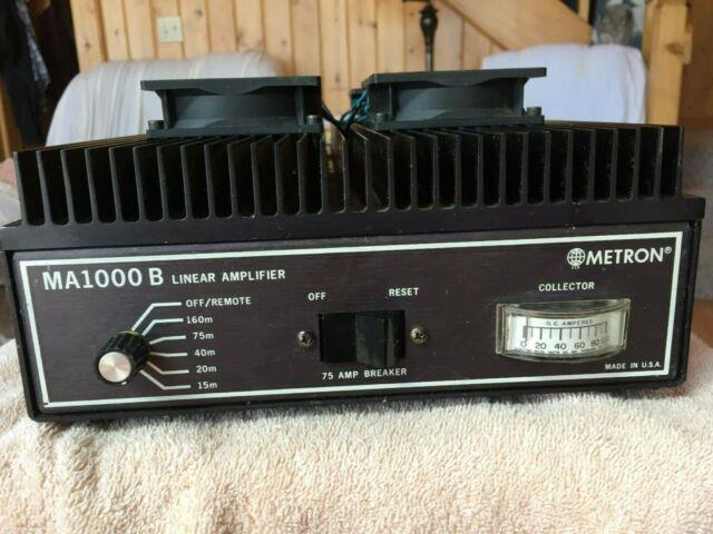 Metron 1000b Linear Amplifier Ham Radio Equipment Rare! Hard To Find