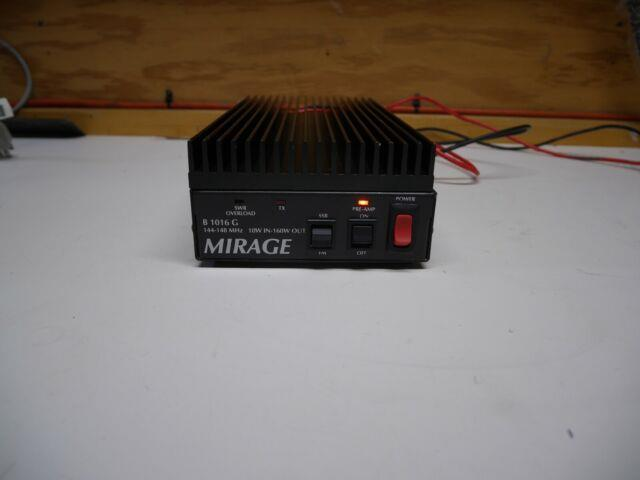Mirage B1016 G 2 Meter Fm/ssb Amplifier For Ham Radio 10w In 160w Out Tested