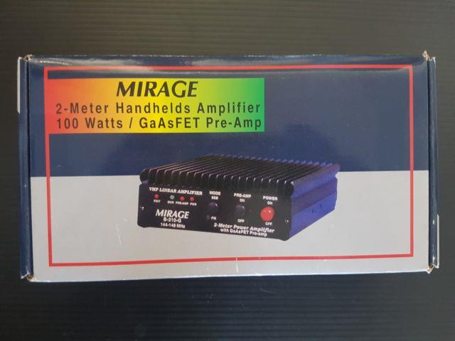 Mirage B-310-g Amplifier Vhf, Ht Amp, 3w-in, 100w-out, 144-148mhz