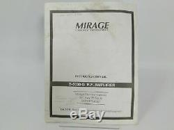 Mirage B-5030-G 2-Meter FM CW SSB Ham Radio Amplifier with Power Cord SN 25931