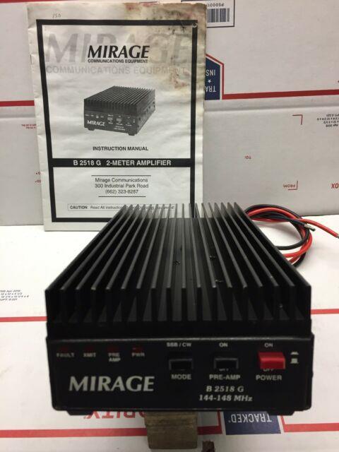 Mirage Communications B 2518 G Amplifier Ham Radio 2 Meter Radio