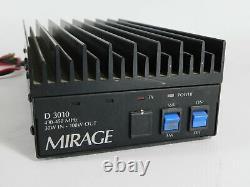 Mirage D3010 UHF 430-450MHz SSB FM Ham Radio Amplifier (works great)