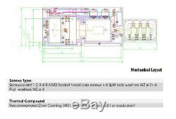 NEW 1 kw (1200w) Professional FM Pallet palet power amplifier amplificador