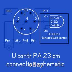 PA 23cm 1296 MHz 150 Watt WSJT mode pallet with heatsink