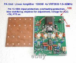 PA Unit 900-1300W Linear Amplifier 4x SD2933, SD2943, VRF2933, MRF150