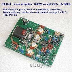 PA Unit module 1200W 1.5-35 MHz Linear Amplifier 4x VRF2933
