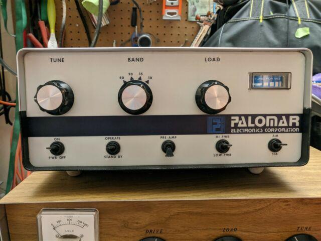 Palomar 300a Linear Amplifier Vintage Cb, Ham Radio White Face Chrome Top