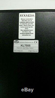 RM Italy KL 7505V 10 meter Linear Amplifier With Fan 225 W AM, 350W PEP
