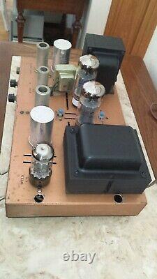 Restored! Eico 730 50 watt modulator/ driver TUBE AMP 5AR4 12AX7 6CA7 EL34 @Nice