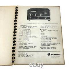 Swan 1200-W Cygnet Linear Base Amplifier + Operation & Maintenance Manual