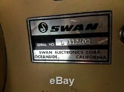 Swan Mark II Linear Amplifier & Power Supply Tested and Serviced 10-80M