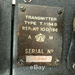 T1154 B Transmitter R1155 Receiver J Switch A1134A amplifier and POWER SUPPLYS