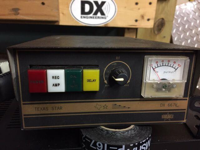 Texas Star Dx-667v Toshiba Transistors 2sc2290 2sc2879 Cw Amplifier 5 Pill