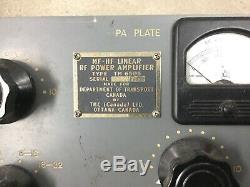 TMC PAL-500 HF Linear Amplifier 2-32 MHz RFE-1 RF Deck Only. Uses 2 4CX-350Bs