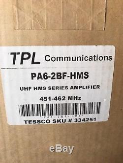 TPL 300 WATT UHF 400 512 Mhz POWER AMPLIFIER PA6-2BF-HMS NIB