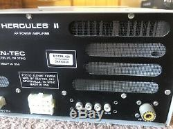 Ten Tec Hercules II Model 420 HF Power Solid State Amplifier Full QSK Ham LOOK